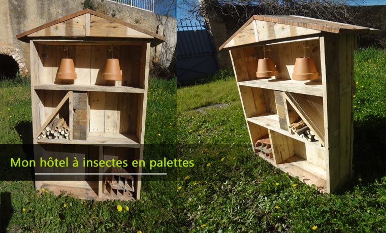 H tel insectes fabriqu en bois de palettes astuces en ligne - Hotel a insectes nature et decouverte ...