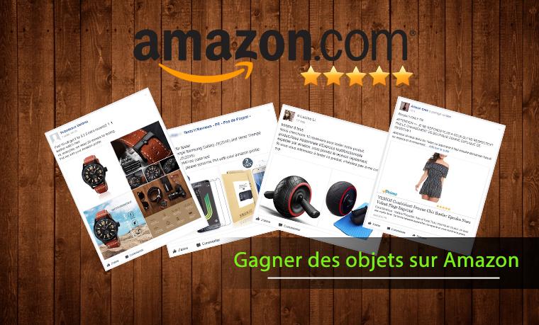 Recevoir des produits gratuitement sur Amazon