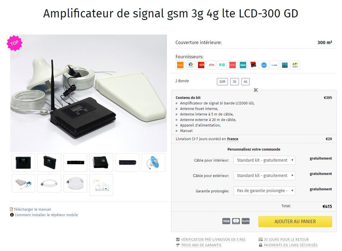 Amplificateur de réseau 4G