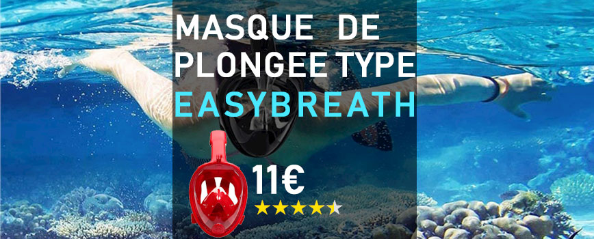 Masque de plongée type Easybreath Aliexpress