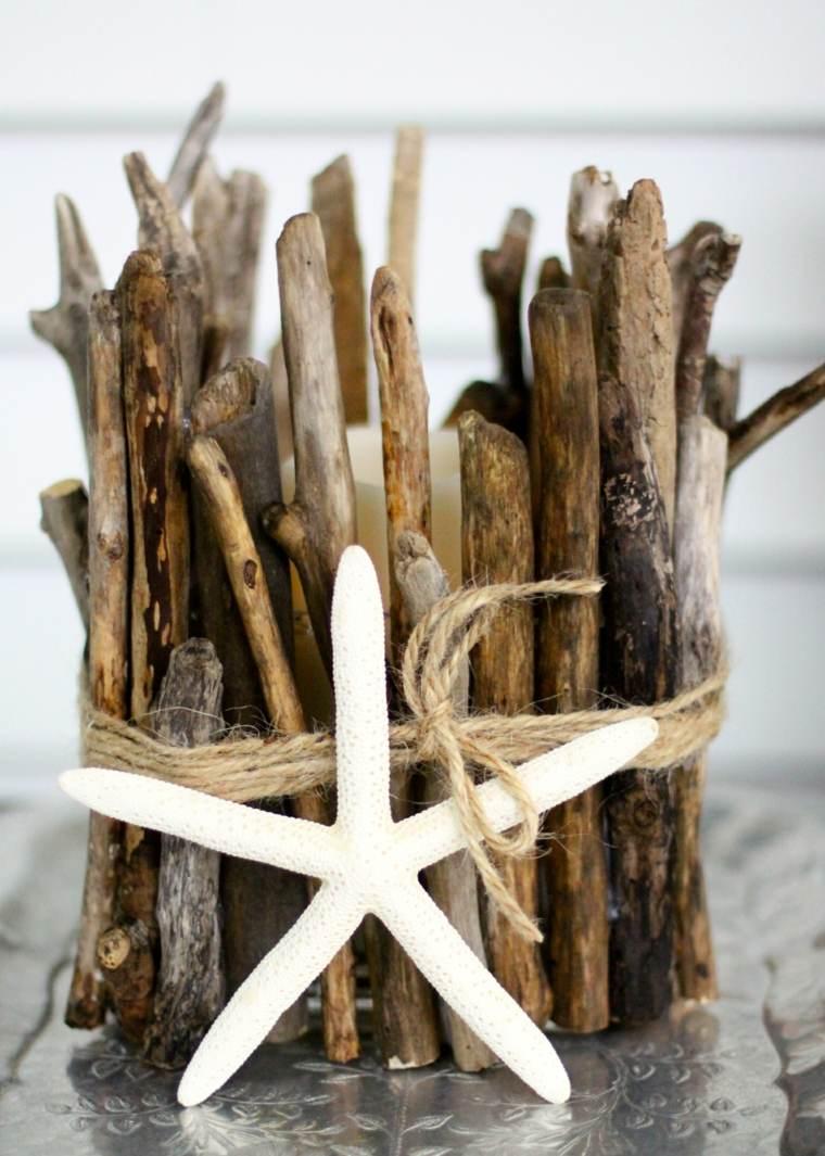 Décoration souvenirs bois flotté