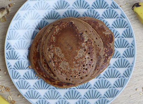 Pancakes protéinés au chocolat bio