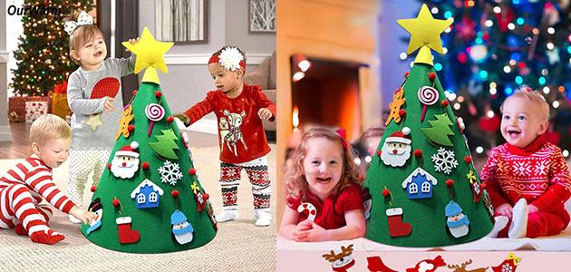 Sapin de noel pour enfant à décorer