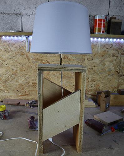 comment fabriquer une lampe en palette soit même