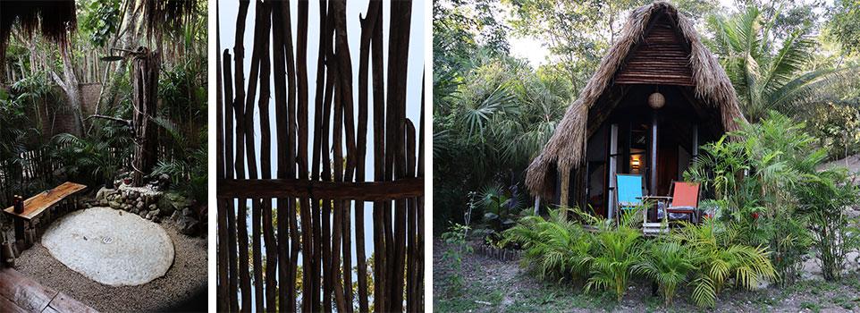 Logement Aibnb sur la lagune aux 7 couleurs à Bacalar dans le Yucatán au Mexique