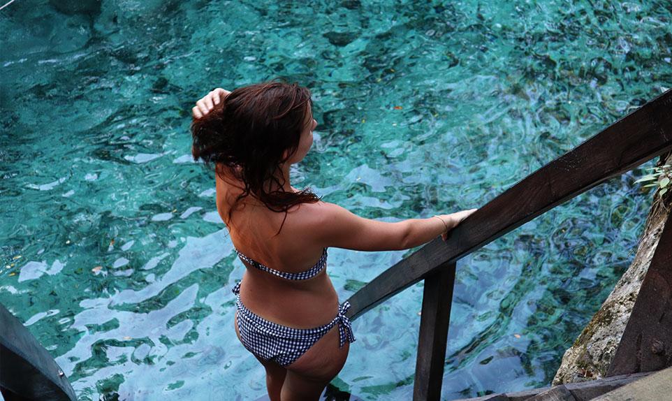 Cenote Akumal Yucatán au Mexique