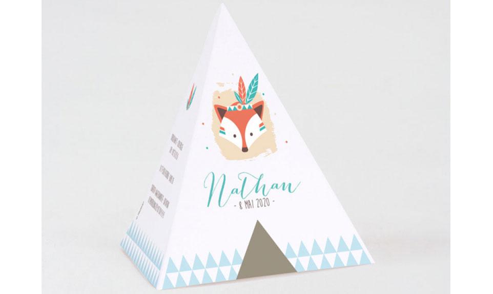 carton d'invitation tipi enfant