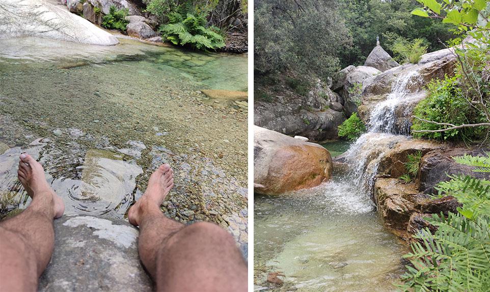 cascades de Polischellu, riviere